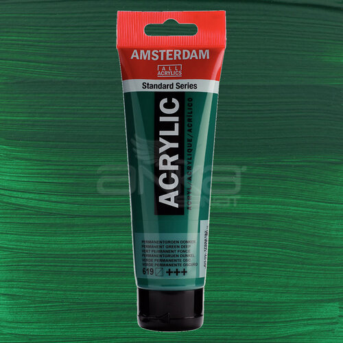 Amsterdam Akrilik Boya 120ml 619 Permanent Green. Deep - 619 Permanent Green. Deep