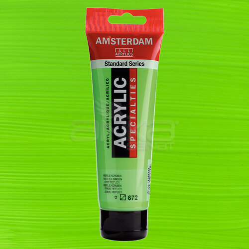 Amsterdam Akrilik Boya 120ml 672 Reflex Green - 672 Reflex Green