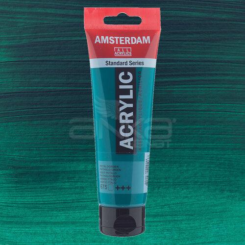 Amsterdam Akrilik Boya 120ml 675 Phthalo Green - 675 Phthalo Green