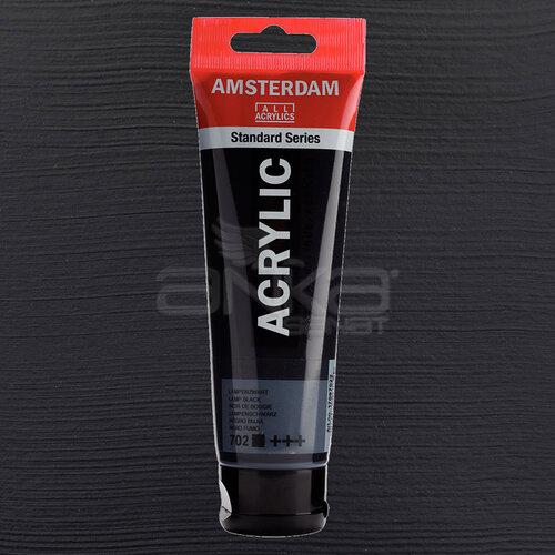 Amsterdam Akrilik Boya 120ml 702 Lamp Black - 702 Lamp Black