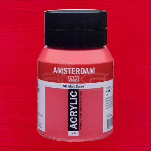 Amsterdam Akrilik Boya 500ml 317 Transparan Red Medium