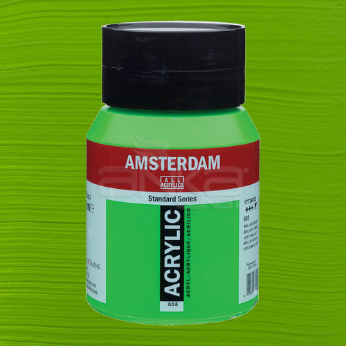 Amsterdam Akrilik Boya 500ml 605 Brilliant Green