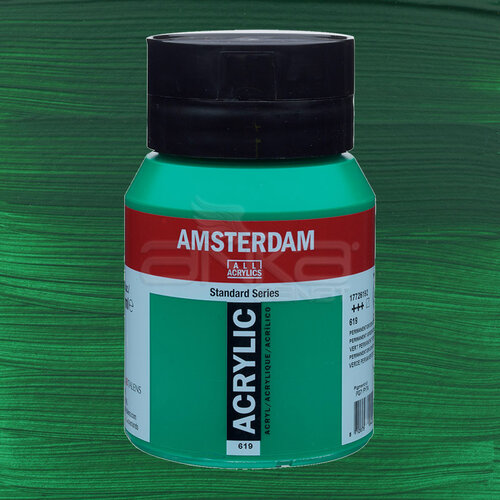 Amsterdam Akrilik Boya 500ml 619 Permanent Green Deep