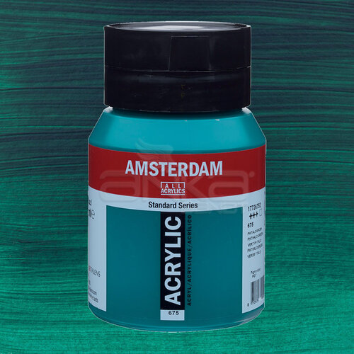 Amsterdam Akrilik Boya 500ml 675 Phthalo Green