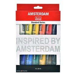 Amsterdam - Amsterdam Akrilik Boya Seti Ana Renkler 12x20ml (1)