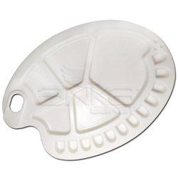 Anka Art - Anka Art Plastik Oval Palet Oluklu 17x23cm