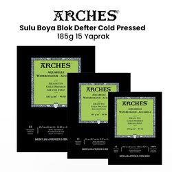 Arches - Arches Sulu Boya Blok Defter Cold Pressed 185g 15 Yaprak