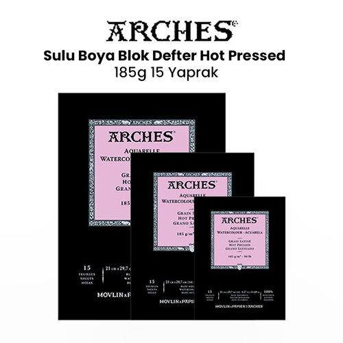 Arches Sulu Boya Blok Defter Hot Pressed 185g 15 Yaprak
