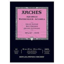 Arches Sulu Boya Blok Defter Hot Pressed 300g 12 Yaprak - Thumbnail