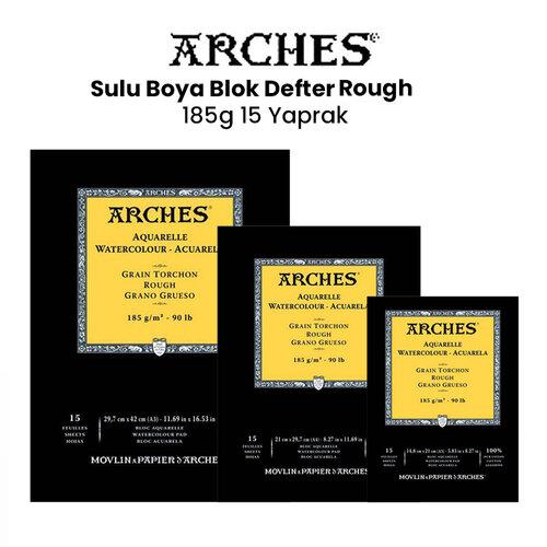 Arches Sulu Boya Blok Defter Rough 185g 15 Yaprak