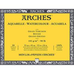 Arches - Arches Sulu Boya Blok Defter Rough 185g 20 Yaprak (1)