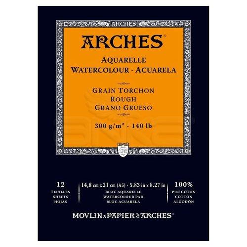 Arches Sulu Boya Blok Defter Rough 300g 12 Yaprak