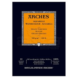 Arches Sulu Boya Blok Defter Rough 300g 12 Yaprak - Thumbnail