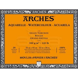 Arches Sulu Boya Blok Defter Rough 300g 20 Yaprak - Thumbnail