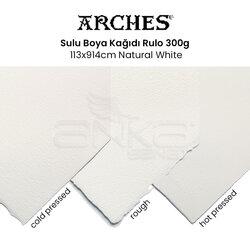 Arches - Arches Sulu Boya Kağıdı Rulo 300g 113x914cm Natural White (1)