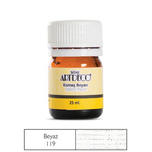 Artdeco 25ml Kumaş Boyası Beyaz No:119