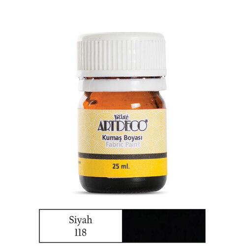 Artdeco 25ml Kumaş Boyası Siyah No:118