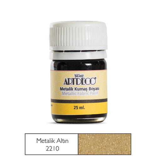 Artdeco 25ml Metalik Kumaş Boyası Metalik Altın No:221