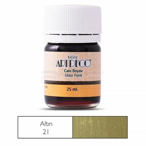Artdeco Cam Boyası 25ml Altın