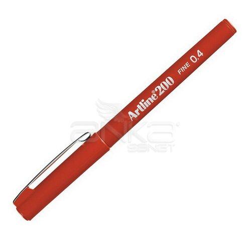 Artline Fineliner 200 0.4mm İnce Uçlu Yazı Ve Çizim Kalemi Red - Red