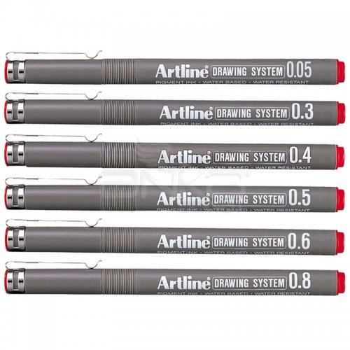 Artline Drawing System Teknik Çizim Kalemi Kırmızı