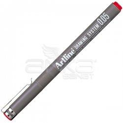 Artline - Artline Drawing System Teknik Çizim Kalemi Kırmızı (1)