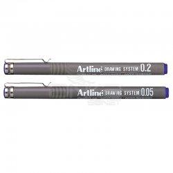 Artline - Artline Drawing System Teknik Çizim Kalemi Mavi