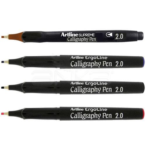 Artline Ergoline Kaligrafi Kalemi Karışık Renk 2.0mm 4lü