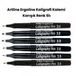 Artline - Artline Ergoline Kaligrafi Kalemi Karışık Renk Set 2 6lı