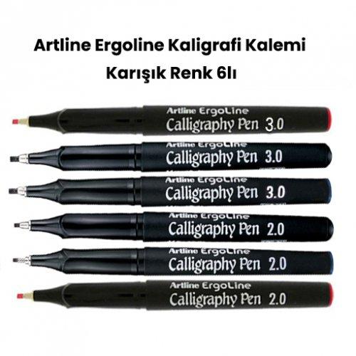 Artline Ergoline Kaligrafi Kalemi Karışık Renk Set 2 6lı