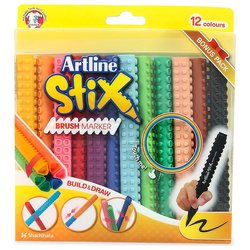 Artline Stix Brush Marker 12 Renk - Thumbnail