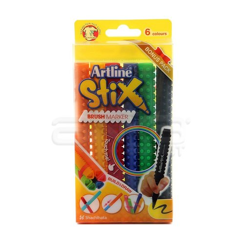 Artline Stix Brush Marker 6 Renk