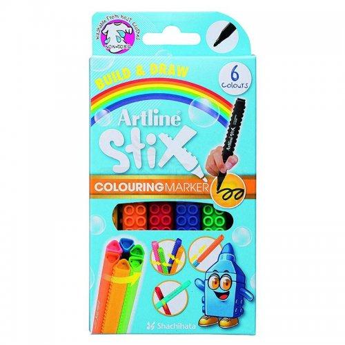 Artline Stix Colouring Marker Keçeli Kalem 6lı