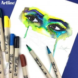 Artline - Artline Supreme Brush Marker Fırça Uçlu Kalem (1)