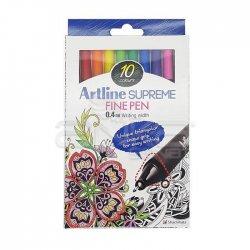 Artline - Artline Supreme Fine Pen 0.4mm 10lu Set