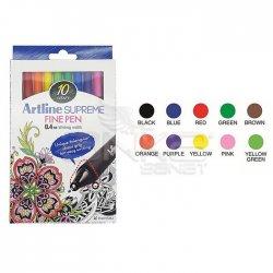 Artline - Artline Supreme Fine Pen 0.4mm 10lu Set (1)