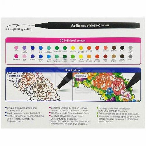 Artline Supreme Fine Pen 0.4mm 30lu Set
