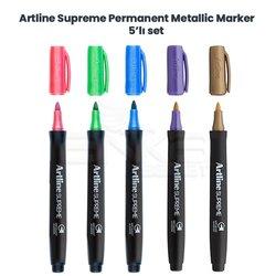 Artline - Artline Supreme Permanent Metallic Marker 5li Set