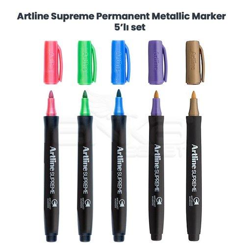 Artline Supreme Permanent Metallic Marker 5li Set