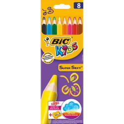 Bic - Bic Kids 8li Super Soft Kuru Boya Kalem Seti