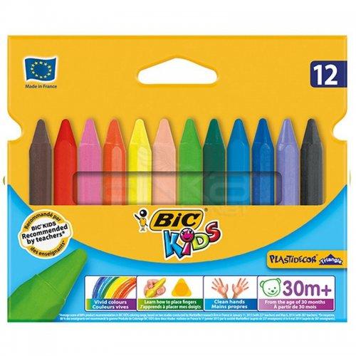 Bic Elleri Kirletmeyen Üçgen Pastel 12li Kutu