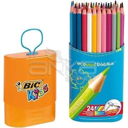 Bic - Bic Kids Evolution 24lü Kuru Boya Kalem Seti