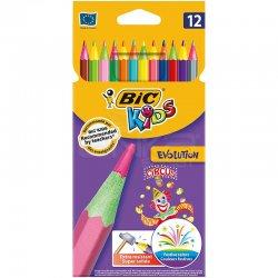 Bic - Bic Kids Evolution Circus 12li Ultra Dayanıklı Boya Kalemi