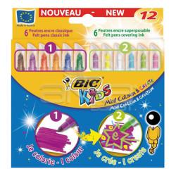 Bic - Bic Kids Mini Colour and Create 12li Keçeli Kalem Seti