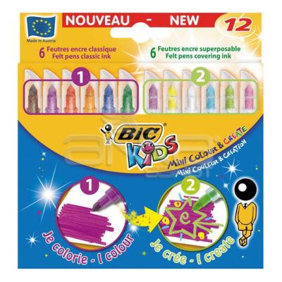 Bic Kids Mini Colour and Create 12li Keçeli Kalem Seti