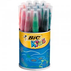 Bic - Bic Kids Visaquarelle Fırça Uçlu Yıkanabilir Keçeli Kalem 18li