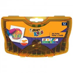 Bic - Bic Kids Yağlı Pastel Plastik Kutulu 12 Renk