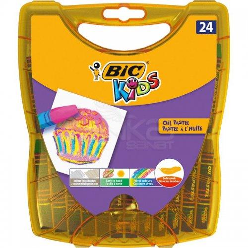 Bic Kids Yağlı Pastel Plastik Kutulu 24 Renk