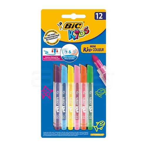 Bic Mini Kid Couleur Ultra Yıkanabilir Keçeli Kalem 12li