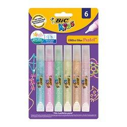 Bic - Bic Simli Yapıştırıcı Pastel Renk 6lı